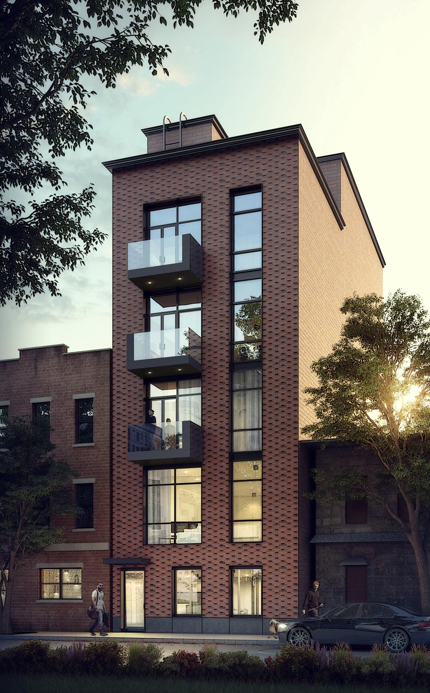 165 Malcolm X Boulevard, rendering courtesy IMC Architecture