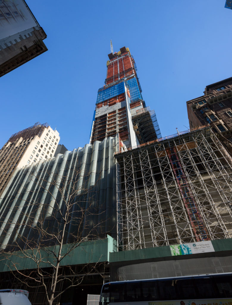 217 West 57th Street from below, by Andrew Campbell Nelson