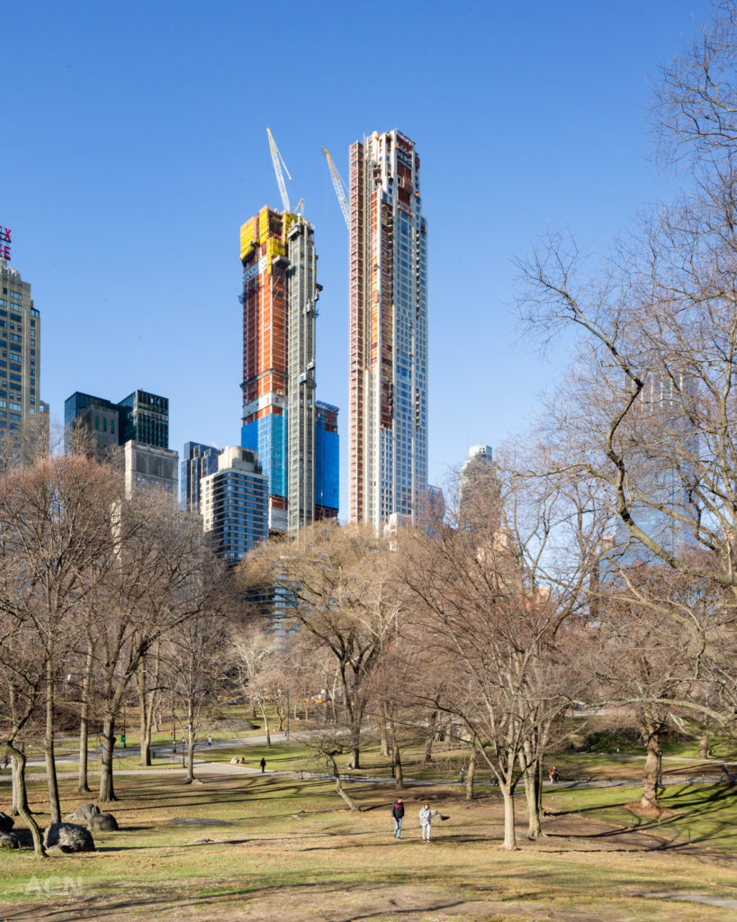 217 West 57th Street (right) and 220 Central Park South (left), image by Andrew Campbell Nelson