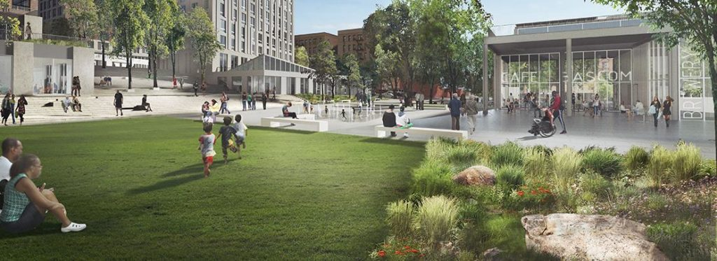 Spofford Plaza's new parks
