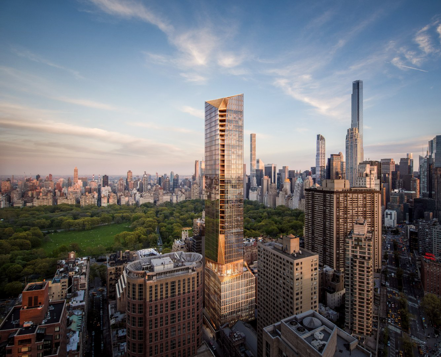 50 West 66th Street site, image by Extell