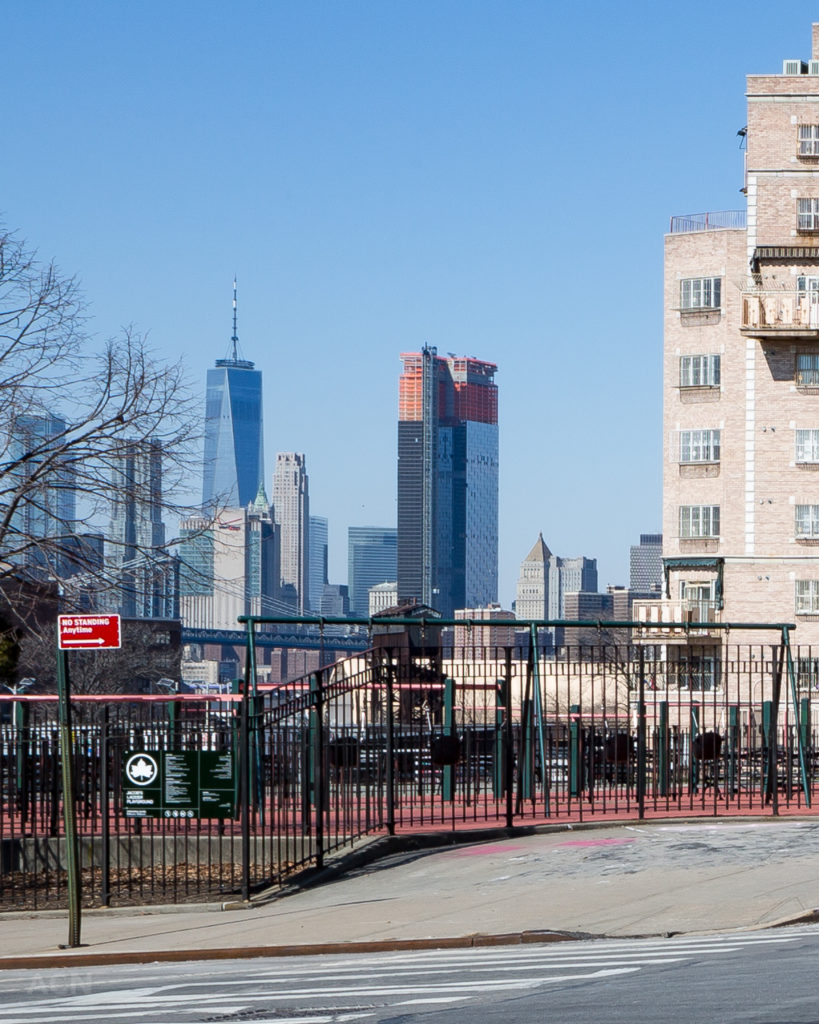 One Manhattan Square from Williamsburg, by Andrew Campbell Nelson