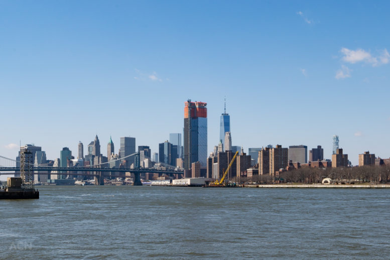 One Manhattan Square, from Williamsburg South Ferry Terminal, by Andrew Campbell Nelson