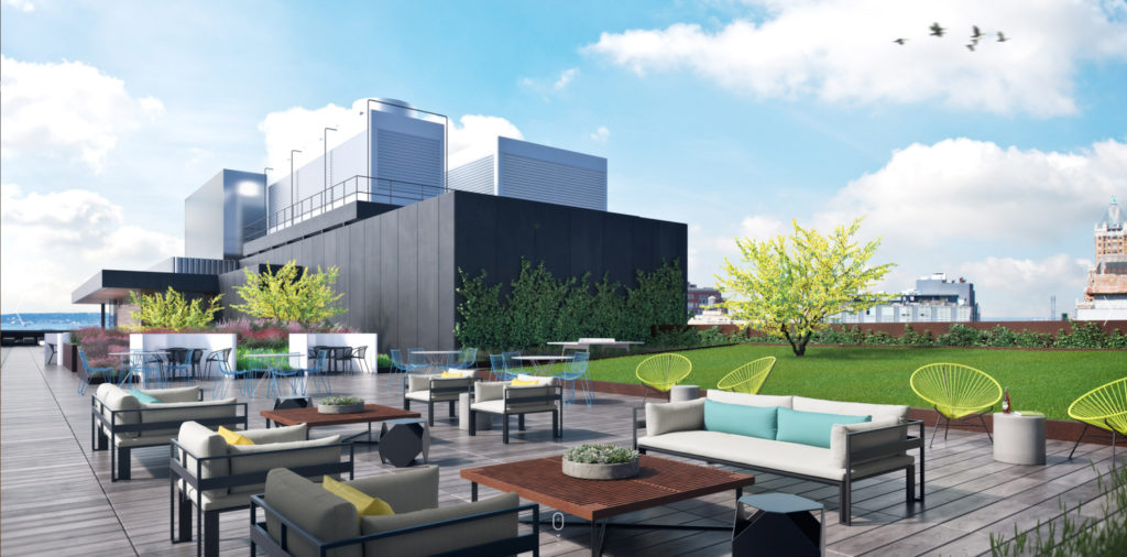 Rooftop terrace of the Wheeler, image courtesy the building website
