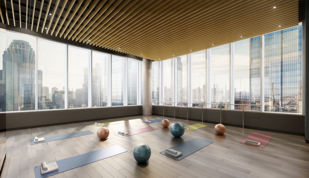 Yoga space on top of the ALTA LIC, 29-22 Northern Boulevard