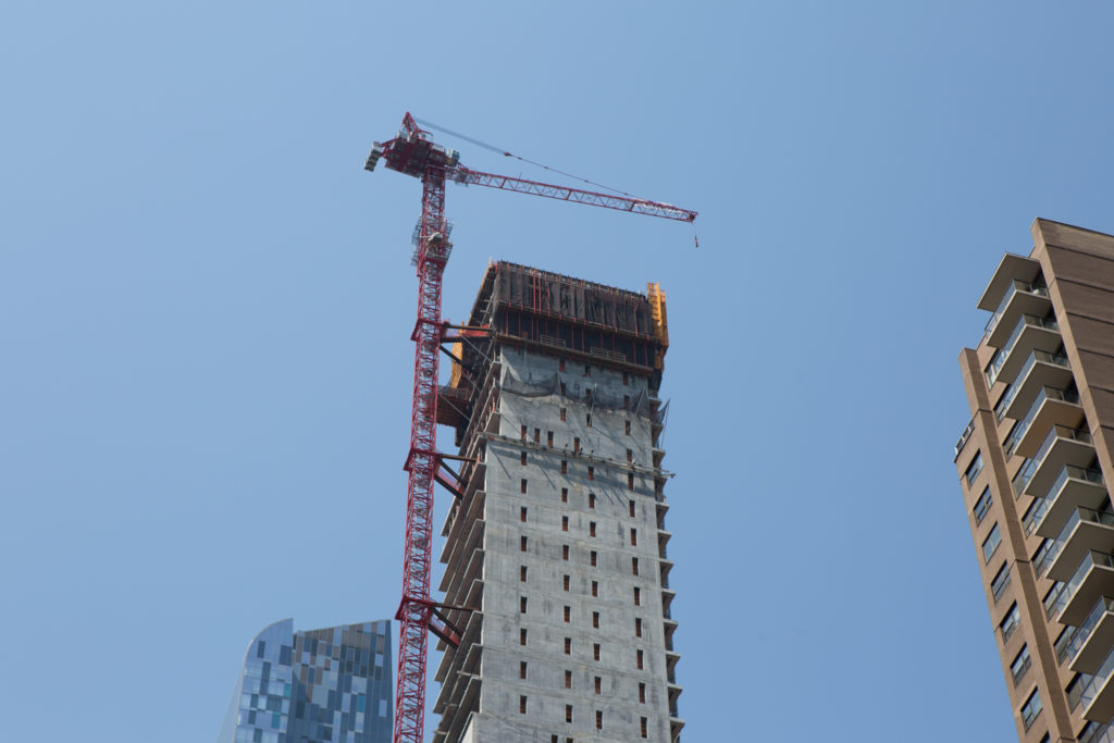 111 West 57th Street closeup of the setback, image by Andrew Campbell Nelson