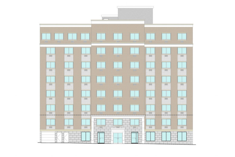 1318 Southern Boulevard Front Elevation, by Badaly Architects