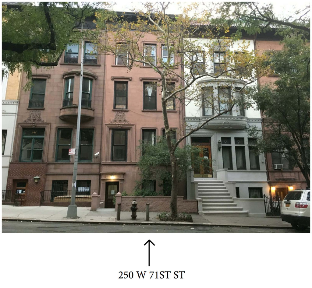 250 West 71st Street, streetview, image courtesy MAD