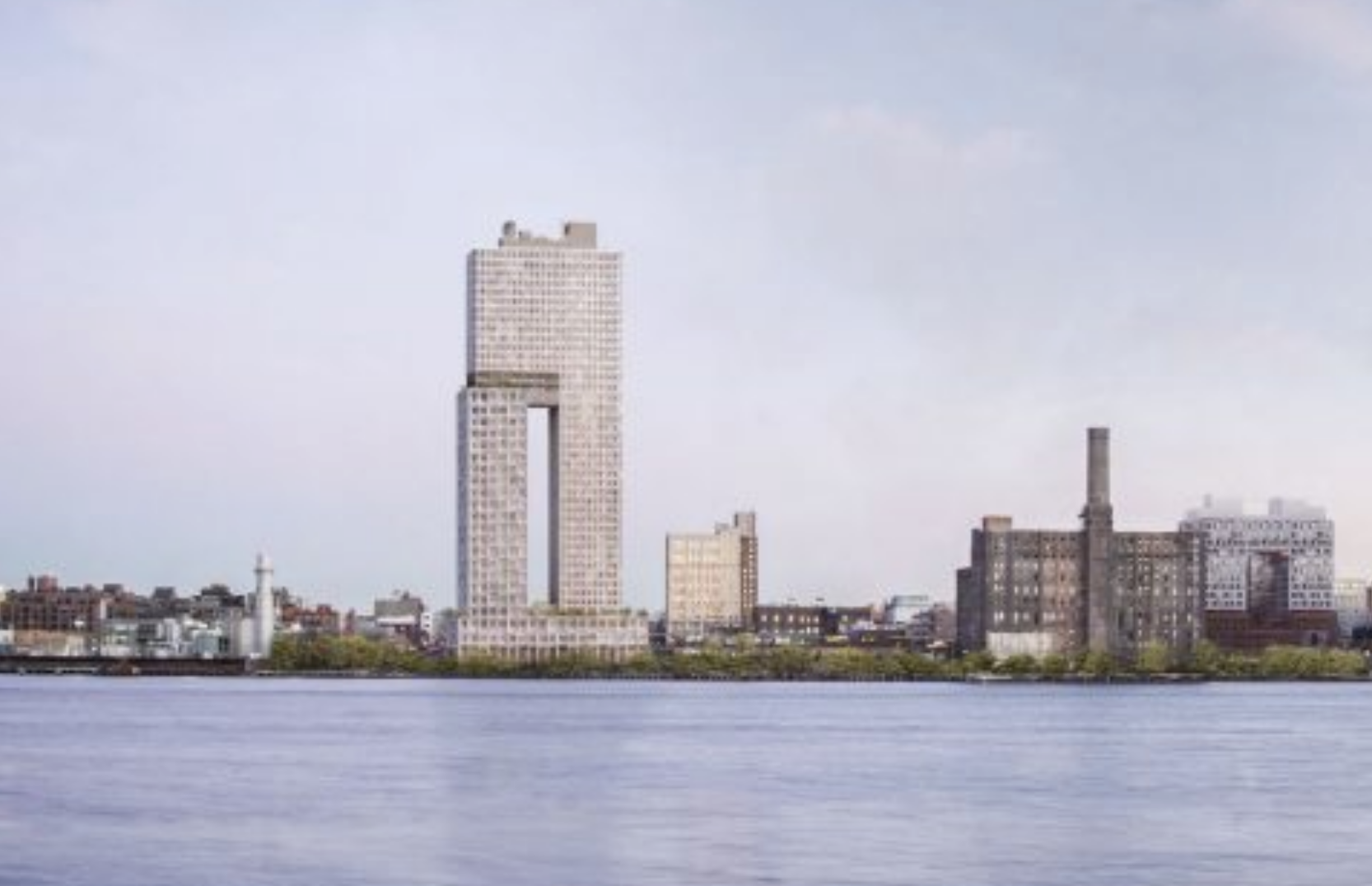 260 Kent Avenue, rendering by COOKFOX