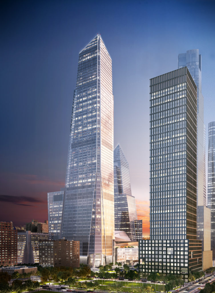 30 Hudson Yards, Looking Southeast with 55 Hudson Yards, Retail, 10 Hudson Yards and 35 Hudson Yards - courtesy of Related-Oxford