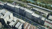 3254 Parkside Place Aerial view, rendering courtesy UA Builders Group, with design by Marin Architects