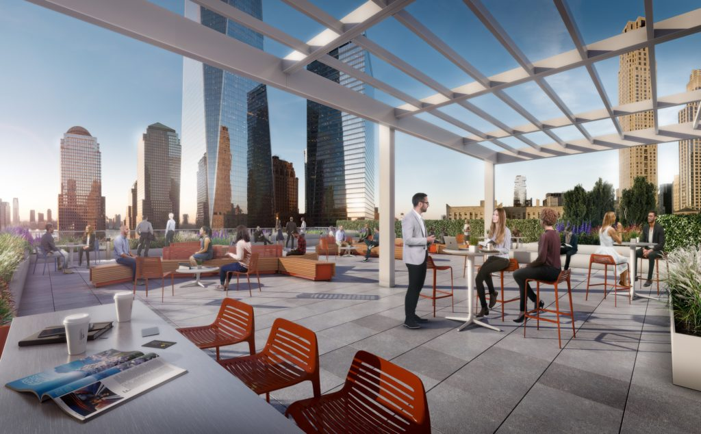 3WTC 17th floor Terrace View Looking West, images by Silverstein Properties