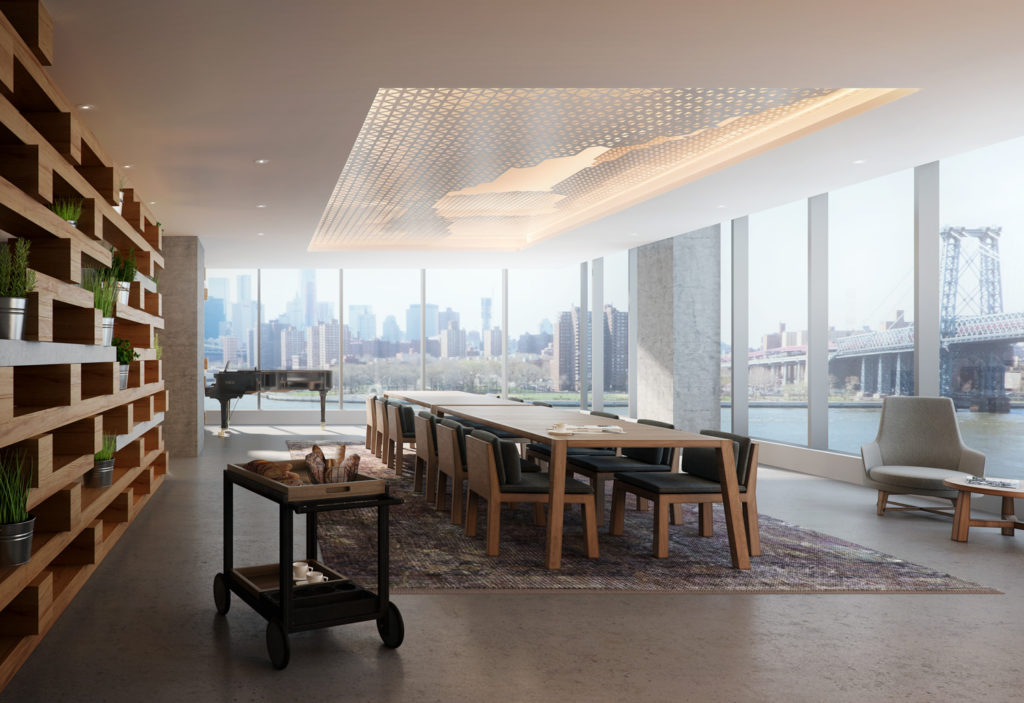 420 Kent Avenue dining space, design by ODA New York