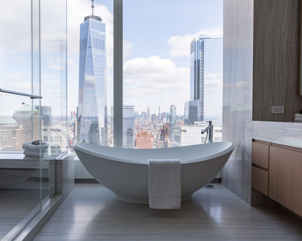 50 West Street penthouse bathtub, image by Andrew Campbell Nelson