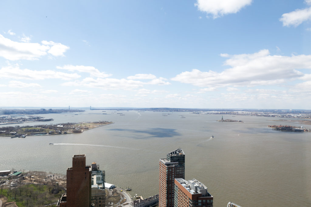 50 West Street views of the New York Harbor, image by Andrew Campbell Nelson