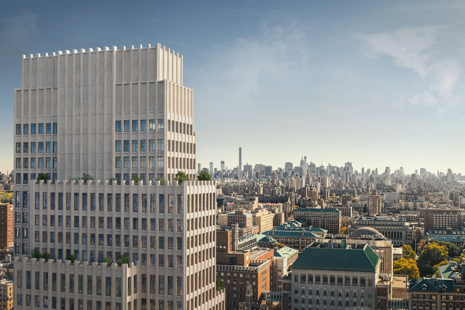 543 West 122nd Street, design by INC, rendering by Binyan Studios