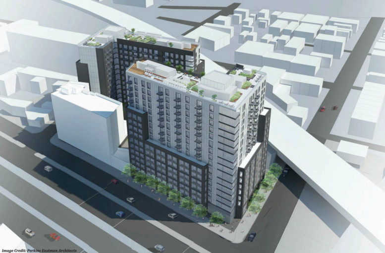 69-02 Queens Boulevard rendering deisgned by Perkins Eastman Architects, via the Department of City Planning