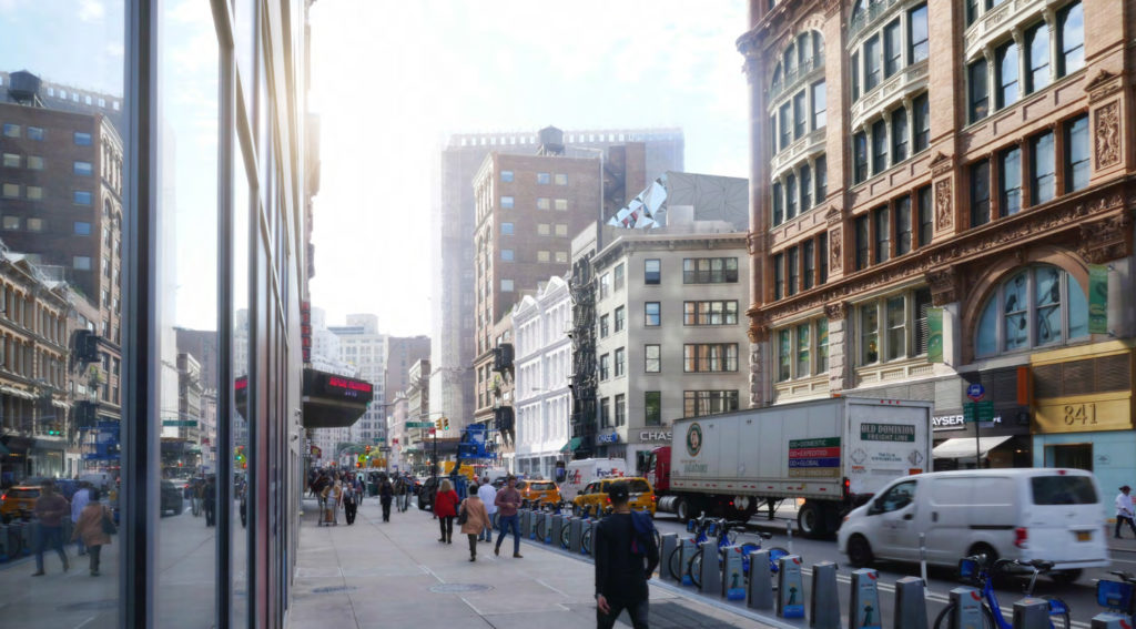 827-831 Broadway from 14th Street revised, rendering by DXA Studio