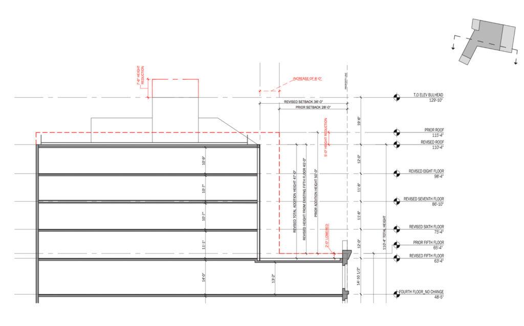 827-831 Broadway revised elevation, by DXA Studio