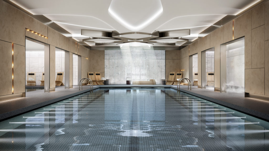 Amenities pool, Rendering by Noë Associates with The Boundary