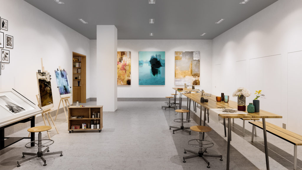 Art Studio, Rendering by Noë Associates with The Boundary