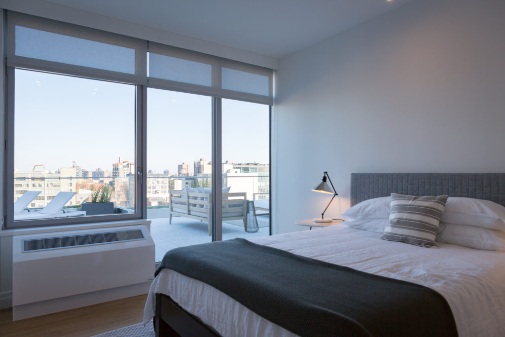 Bedroom in325 Kent Avenue, image by Andrew Campbell Nelson