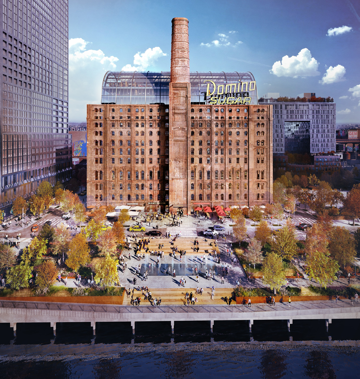 Domino Sugar Factory Refinery, rendering courtesy Two Trees