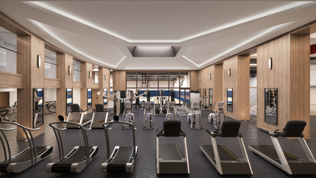Fitness Center, Rendering by Noë Associates with The Boundary