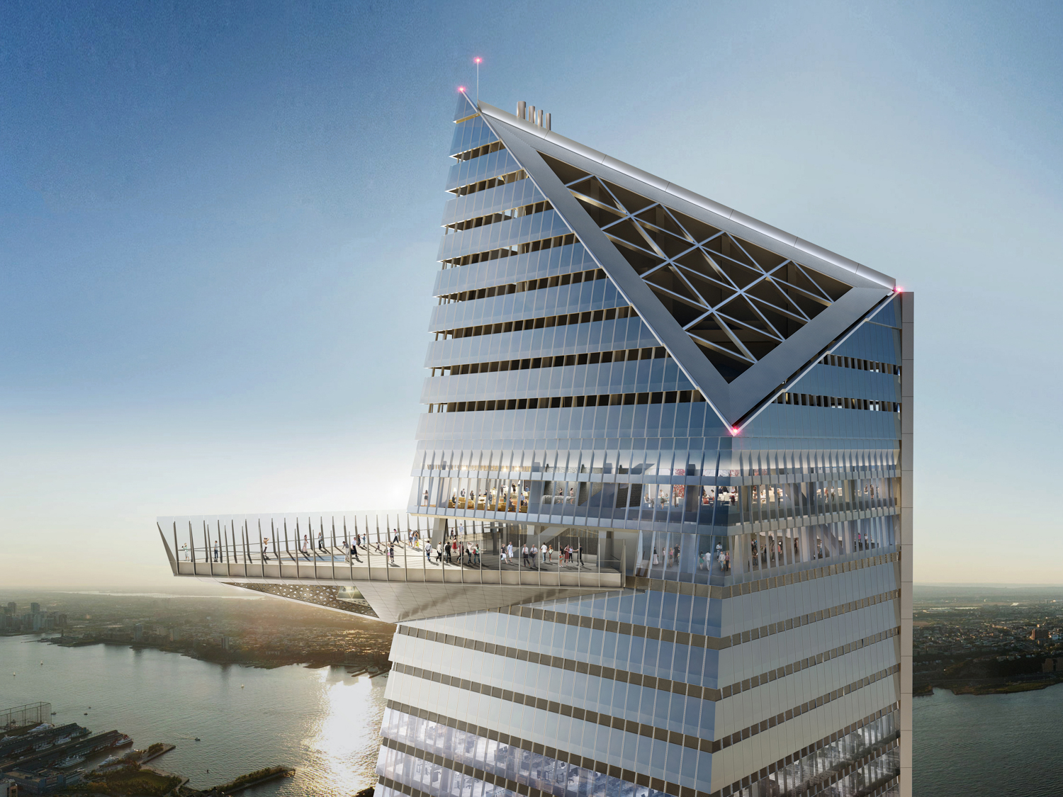Hudson Yards Observation Deck, rendering courtesy of Related and Oxford