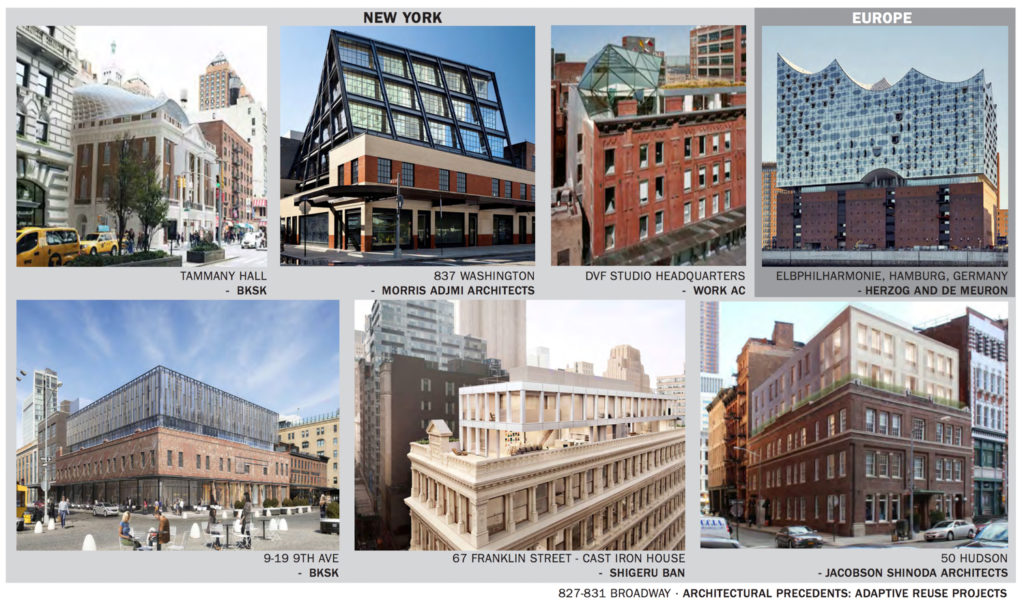 Inspirations for 827-831 Broadway, by DXA Studio
