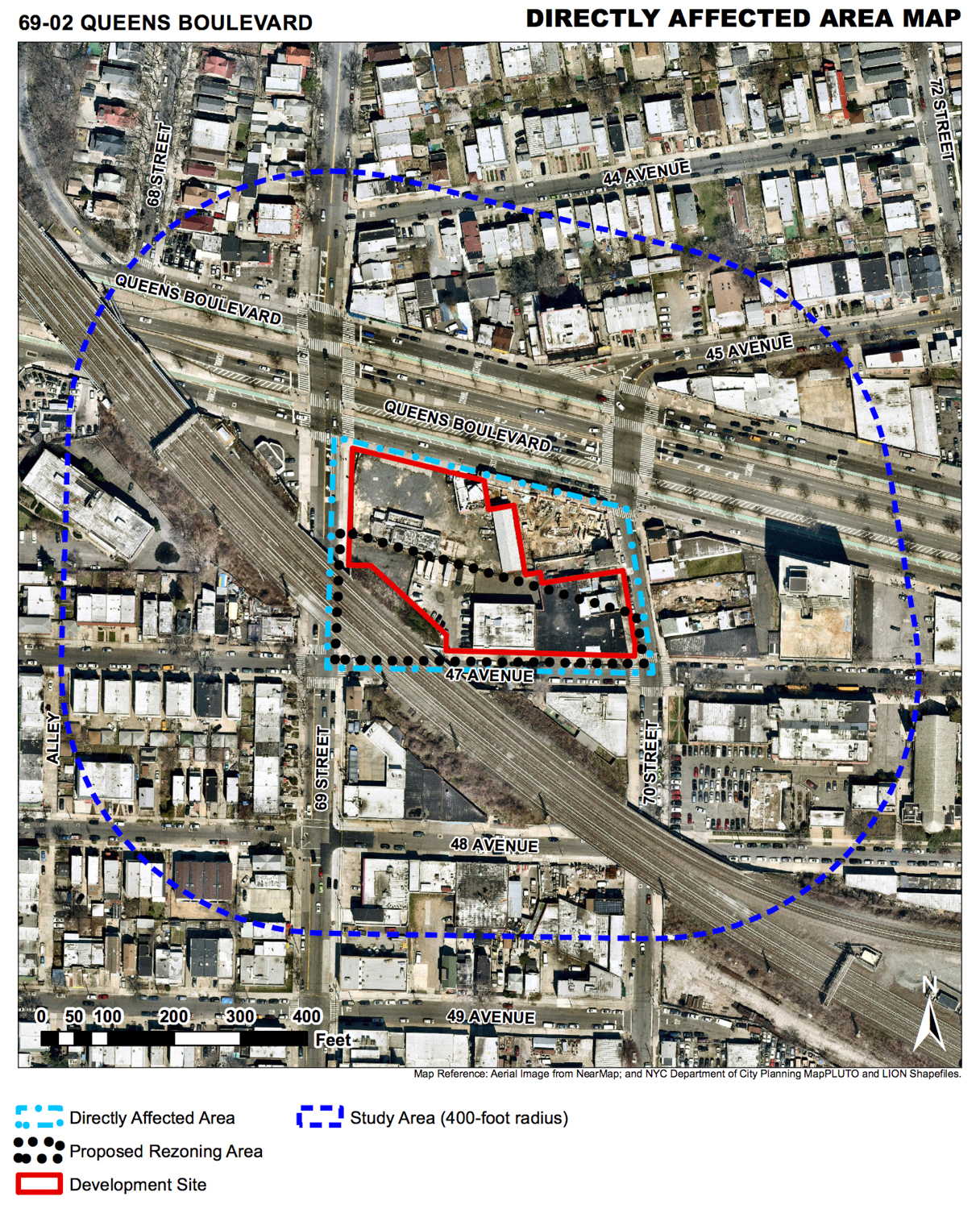 Lot for 69-02 Queens Boulevard, via the Department of City Planning