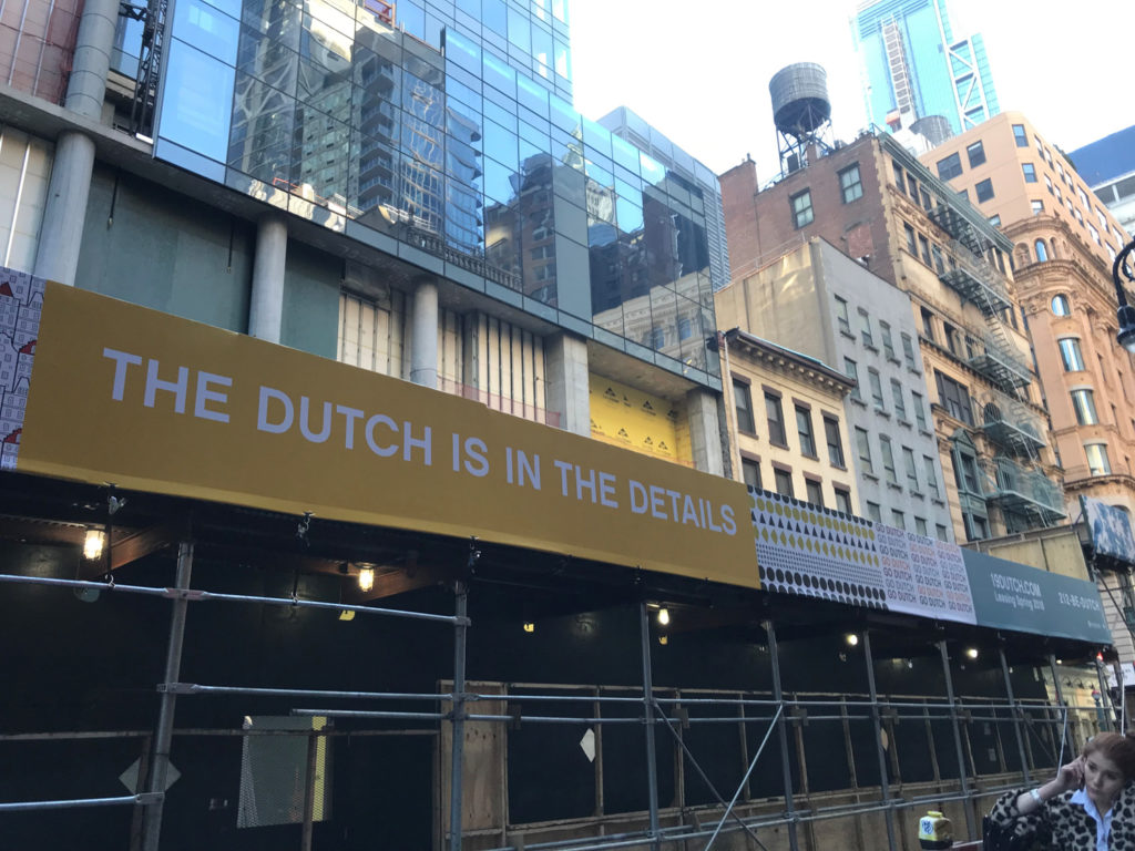 New signage on 19 Dutch