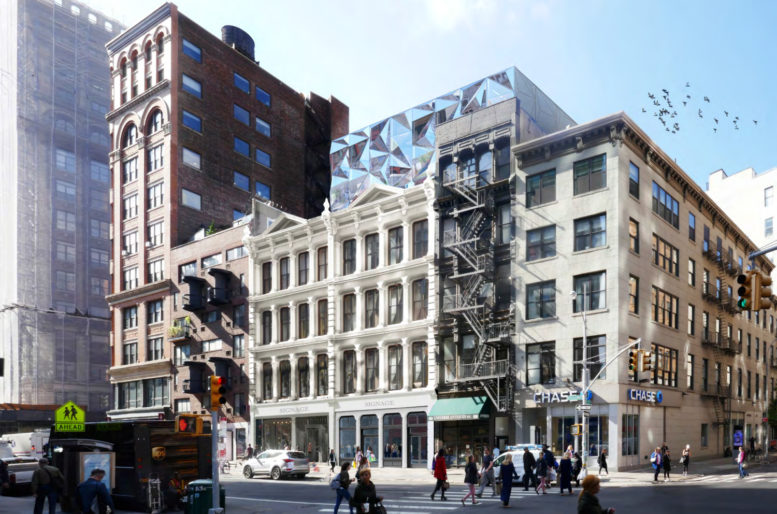 Revised design for 827-831 Broadway, rendering by DXA Studio