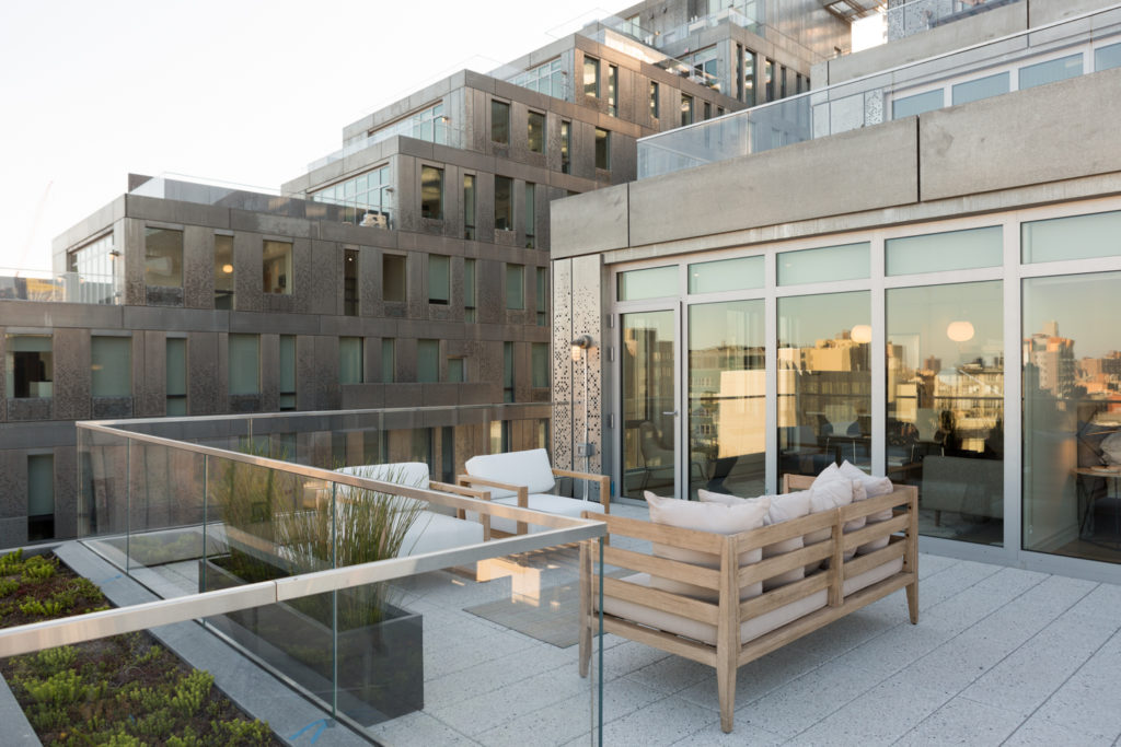 Showroom terrace at 325 Kent Avenue, image by Andrew Campbell Nelson