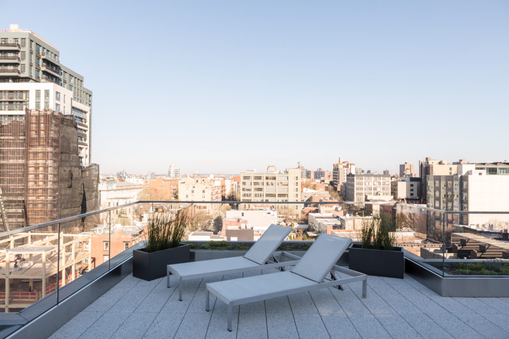 Terrace at 325 Kent Avenue, image by Andrew Campbell Nelson