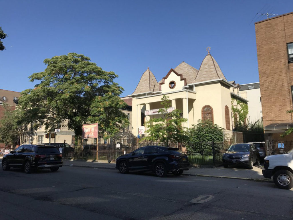 The Congregation Bethel of Borough Park Synagogue, the oldest Jewish synagogue in the neighborhood at 4024 12th Avenue, image by David Shor