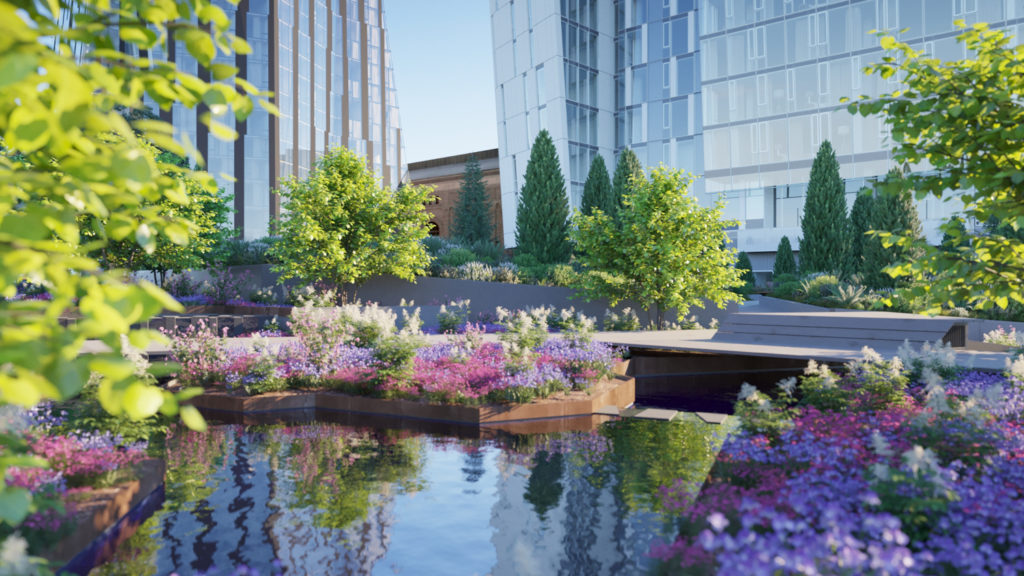 Waterline Square Park, Rendering by Noë Associates with The Boundary