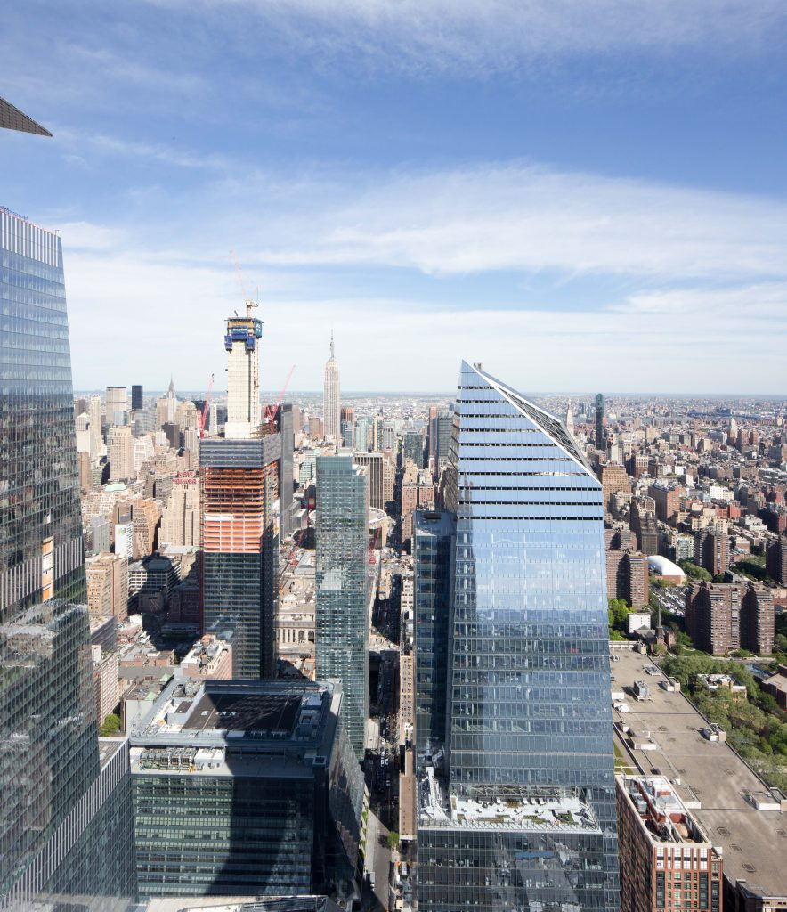 10 Hudson Yards seen from 15 Hudson Yards, image by Andrew Campbell Nelson