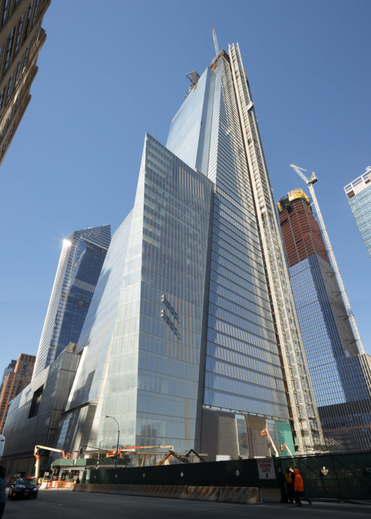 30 Hudson Yards from 10th Avenue, April 23rd, image by Andrew Campbell Nelson