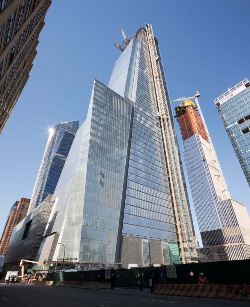 30 Hudson Yards from 10th Avenue, May 1st, image by Andrew Campbell Nelson
