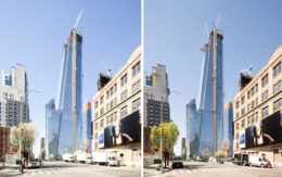 30 Hudson Yards from April 23rd versus May 1st, image by Andrew Campbell Nelson