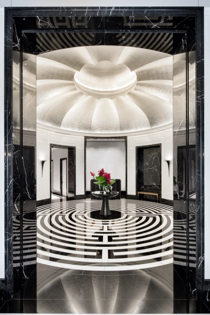 30 Park Place resident lobby, image courtesy Silverstein