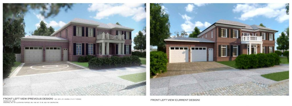 300 Kenmore Road, before and after respectively, rendering by T.F. Cusanelli and Filletti Architects