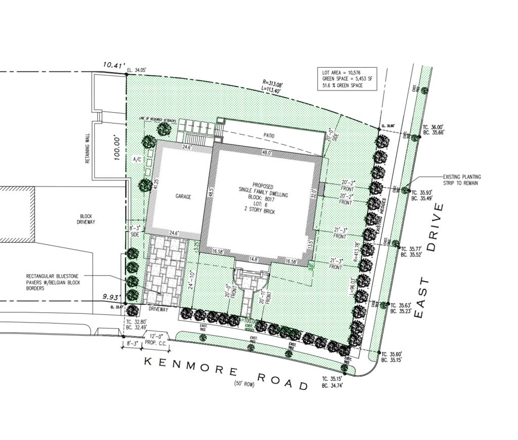 300 Kenmore Road lot, design by T.F. Cusanelli and Filletti Architects