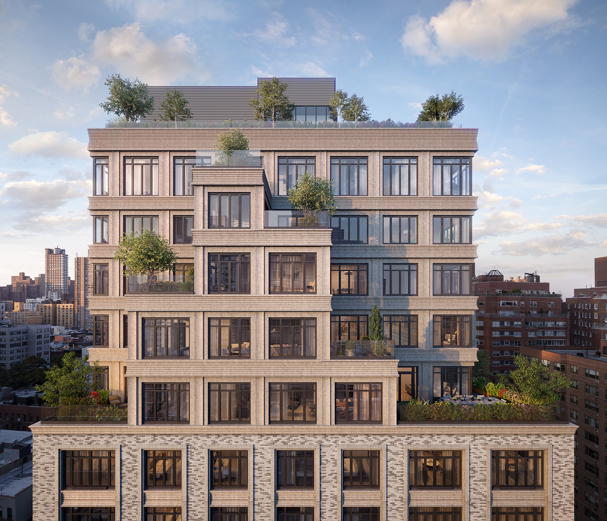 40 East End hummingbird view, rendering by Binyan Studios