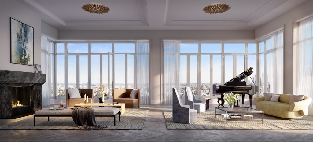 40 East End penthouse, rendering by Binyan Studios