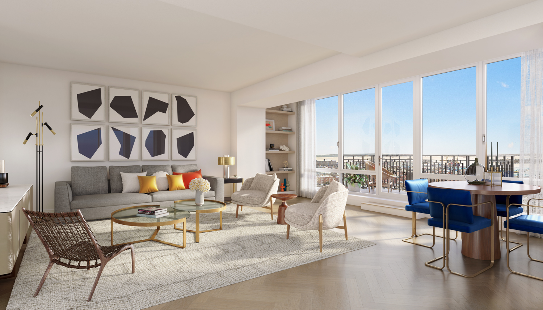 67 Livingston Living Room Rendering By Redundant Pixel New York Yimby