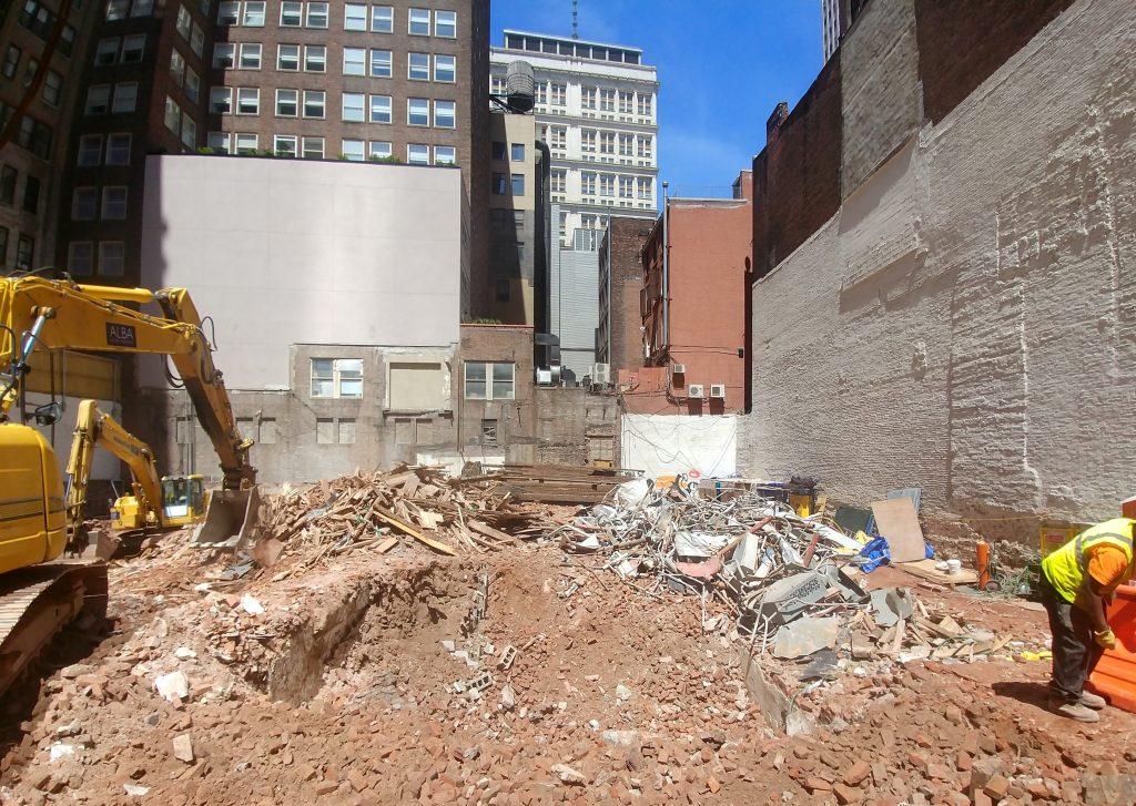 75 Nassau demolition complete, image by Brome