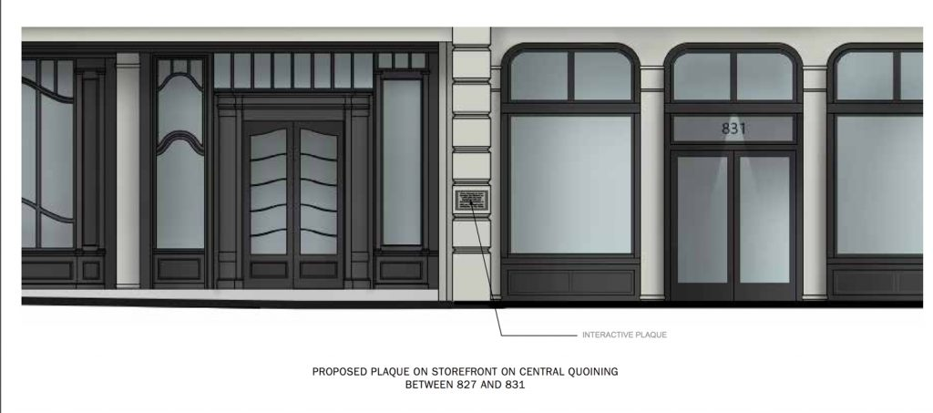 Approved design for store fronts at 827-831 Broadway, rendering courtesy DXA Studios
