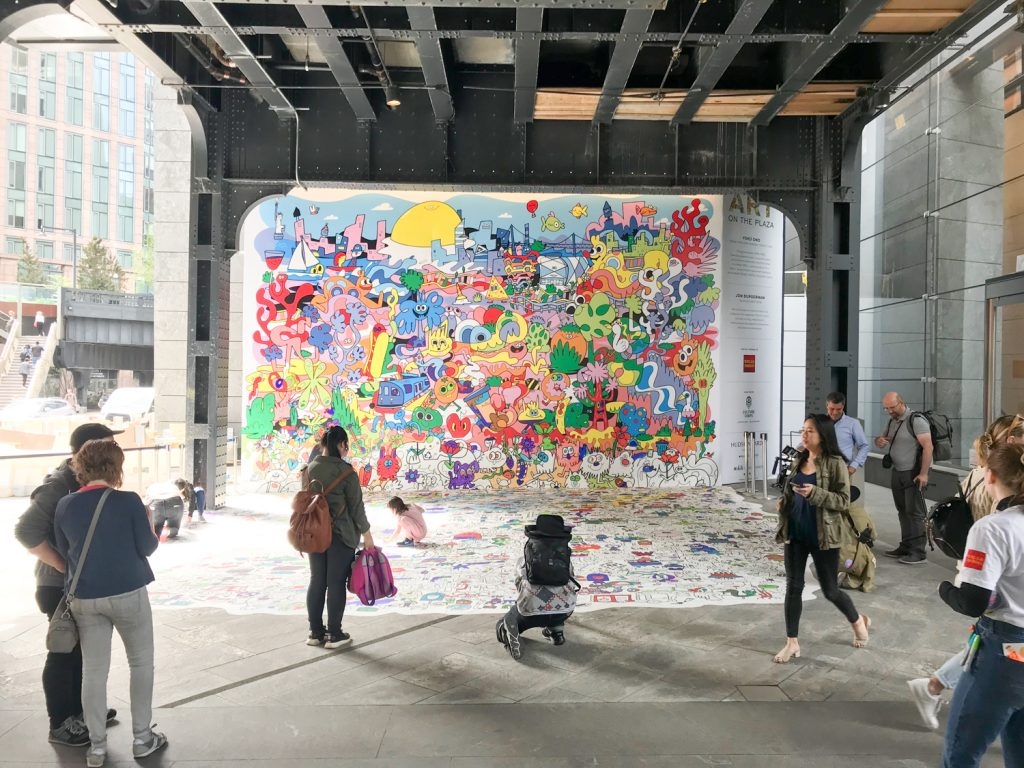 Art on the Plaza piece by Jon Burgerman